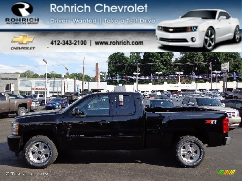 2012 Silverado 1500 LTZ Extended Cab 4x4 - Black / Ebony photo #1