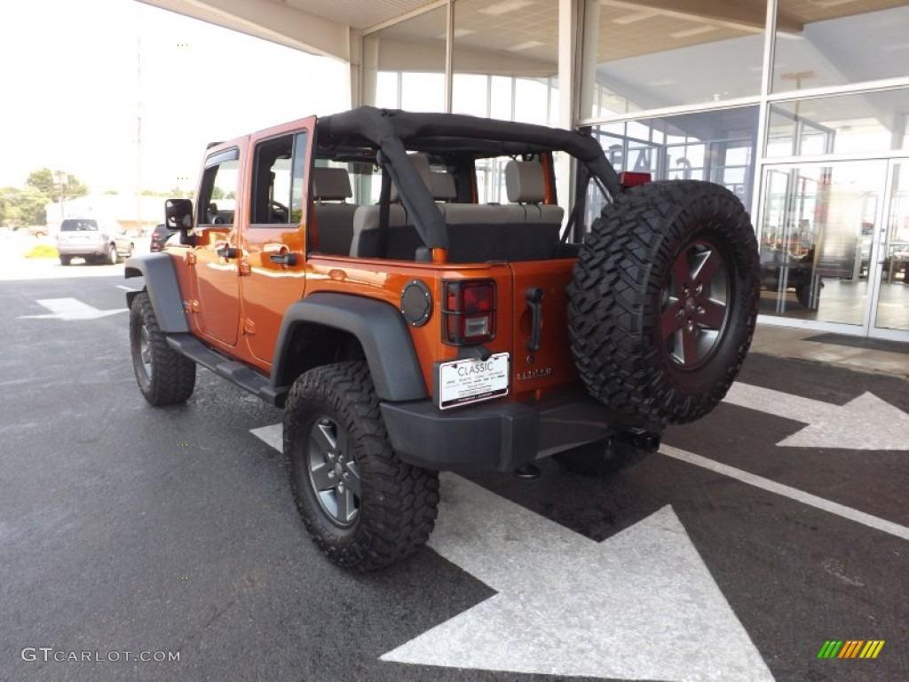 2010 Mango Tango Pearl Jeep Wrangler Unlimited Mountain Edition 4x4 ...