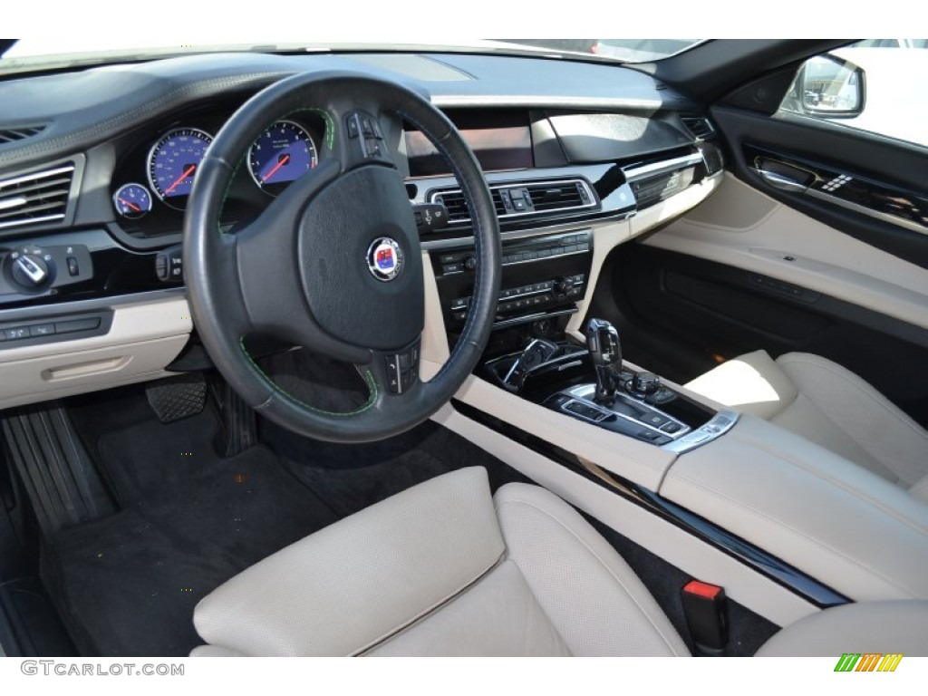 Oyster Black Interior 2011 BMW 7 Series Alpina B7 Photo 66371660