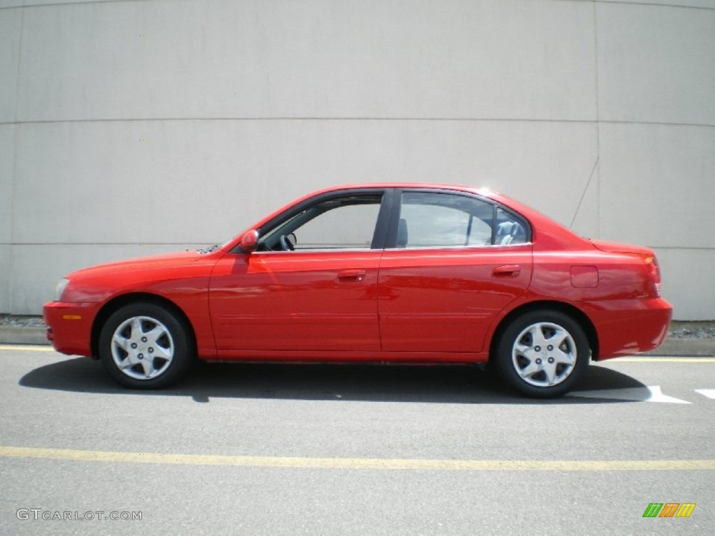 Rally Red 2004 Hyundai Elantra Gls Sedan Exterior Photo