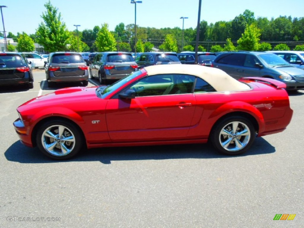 Dark Candy Apple Red 2008 Ford Mustang Shelby Gt500