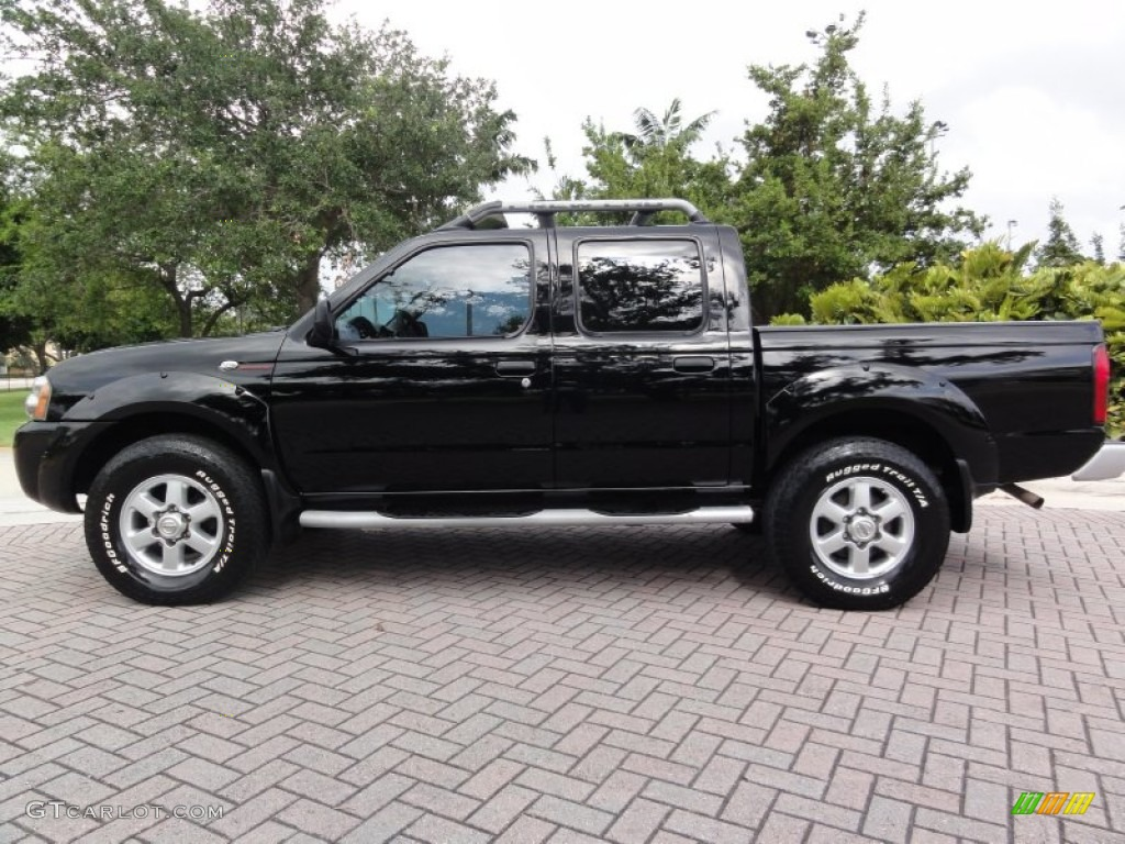 super black 2003 nissan frontier sc v6 crew cab 4x4 exterior photo 66431769. Black Bedroom Furniture Sets. Home Design Ideas