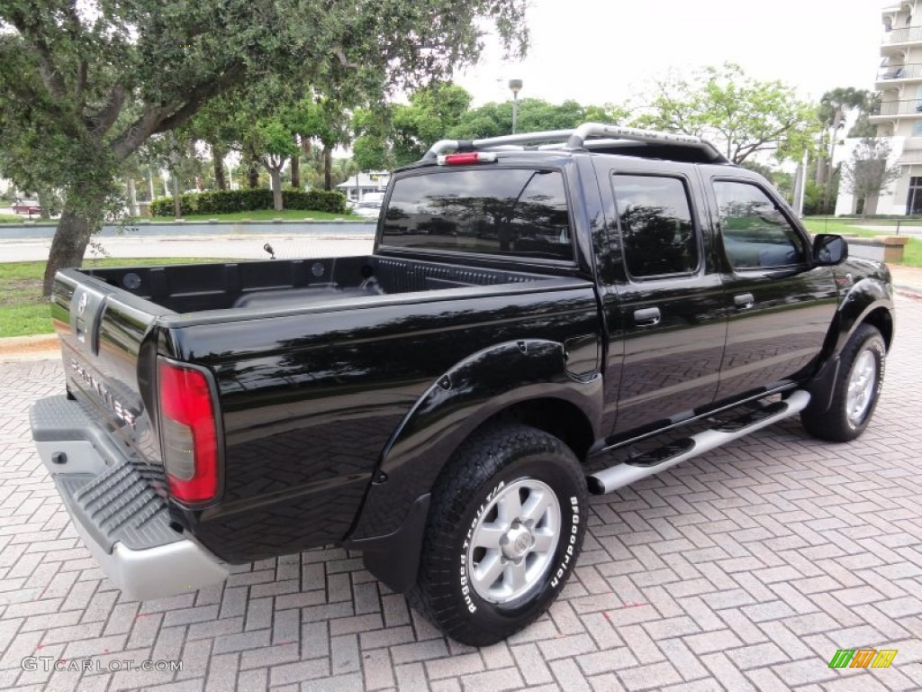 super black 2003 nissan frontier sc v6 crew cab 4x4. Black Bedroom Furniture Sets. Home Design Ideas