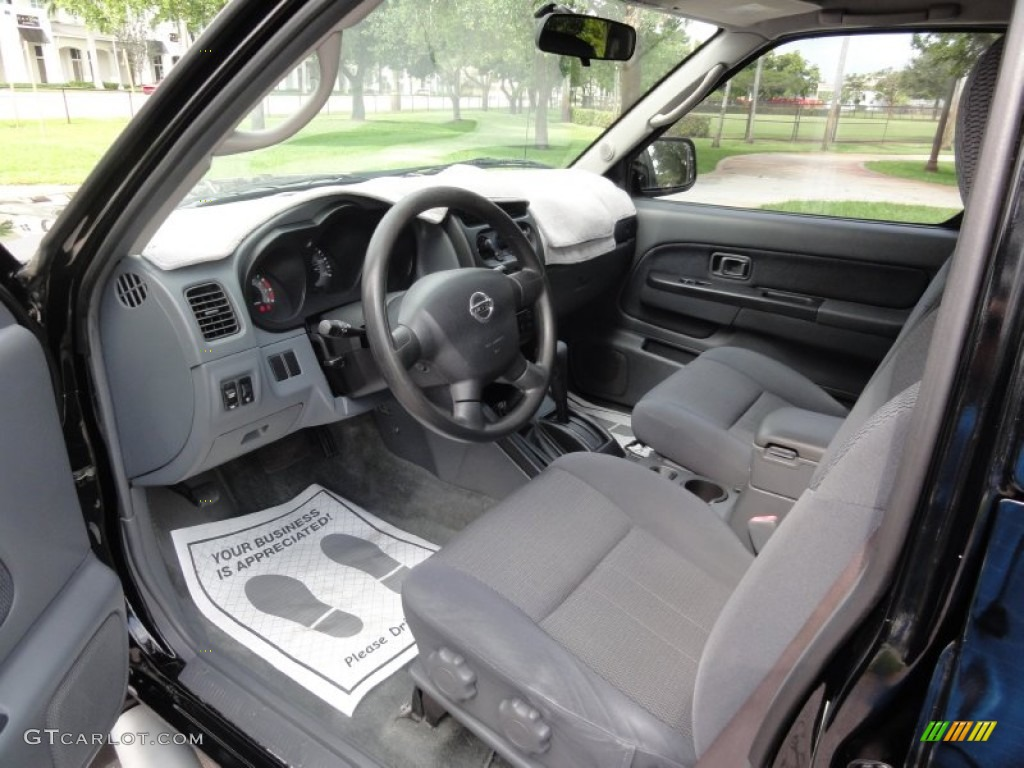 Gray Interior 2003 Nissan Frontier Sc V6 Crew Cab 4x4 Photo 66431849