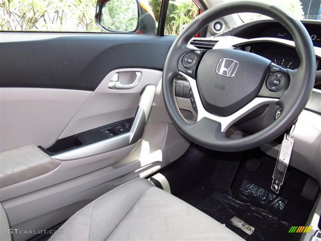 2012 honda civic ex coupe gray steering wheel photo. Black Bedroom Furniture Sets. Home Design Ideas