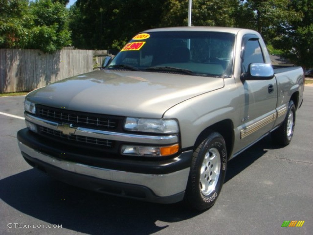 light pewter metallic 2001 chevrolet silverado 1500 ls. Black Bedroom Furniture Sets. Home Design Ideas