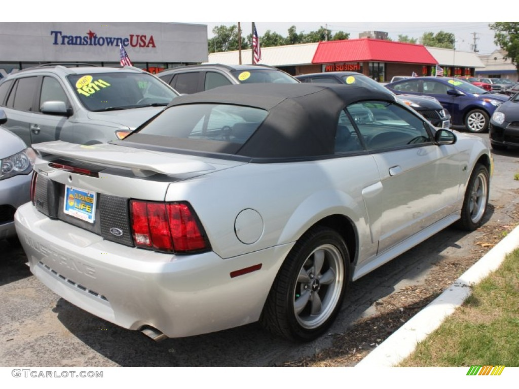 2001 Mustang GT Convertible - Silver Metallic / Medium Graphite photo #2