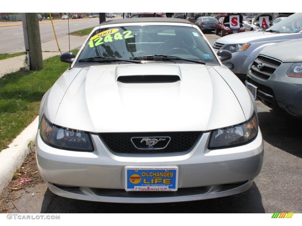 2001 Mustang GT Convertible - Silver Metallic / Medium Graphite photo #8