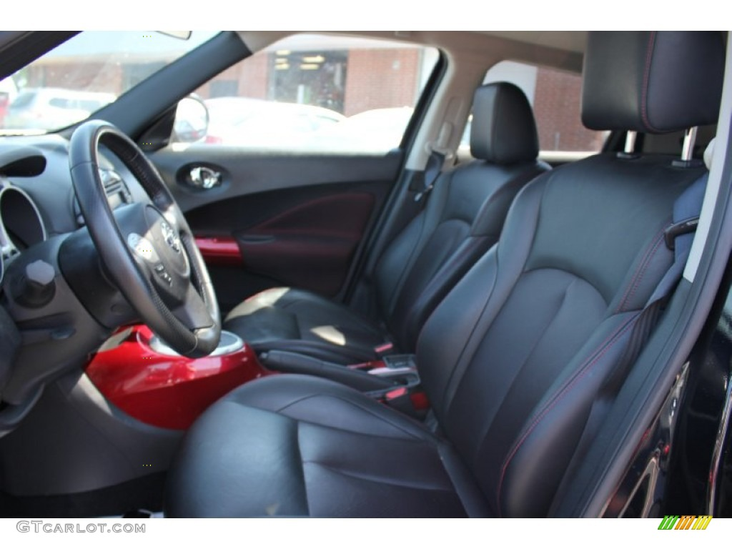 black red w red trim interior 2011 nissan juke sl photo 66442656. Black Bedroom Furniture Sets. Home Design Ideas