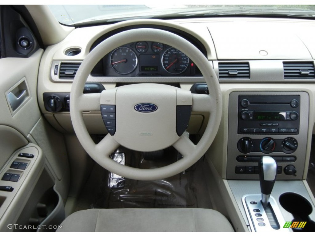 2005 ford five hundred se pebble beige steering wheel photo 66446373