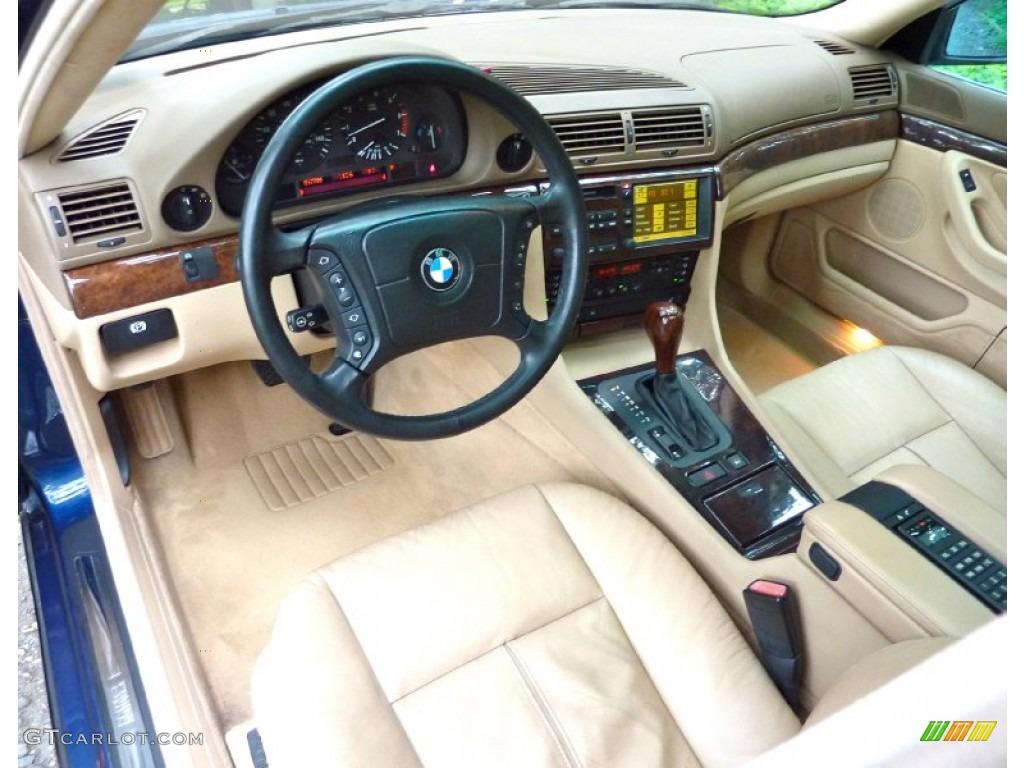 Sand Interior 2000 BMW 7 Series 740iL Sedan Photo 66466974