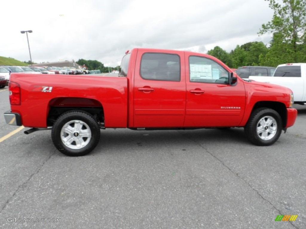 2012 Silverado 1500 LTZ Crew Cab 4x4 - Victory Red / Light Titanium/Dark Titanium photo #2