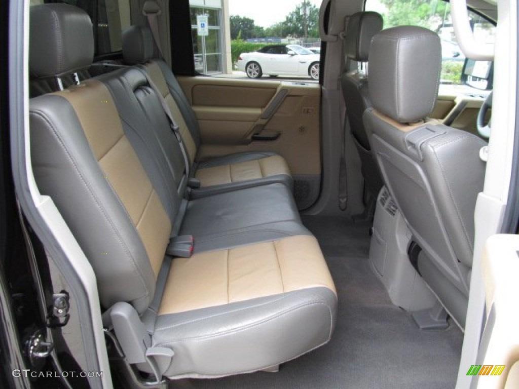 Sand Steel Interior 2004 Nissan Titan Le Crew Cab 4x4 Photo 66484218 Gtcarlot Com