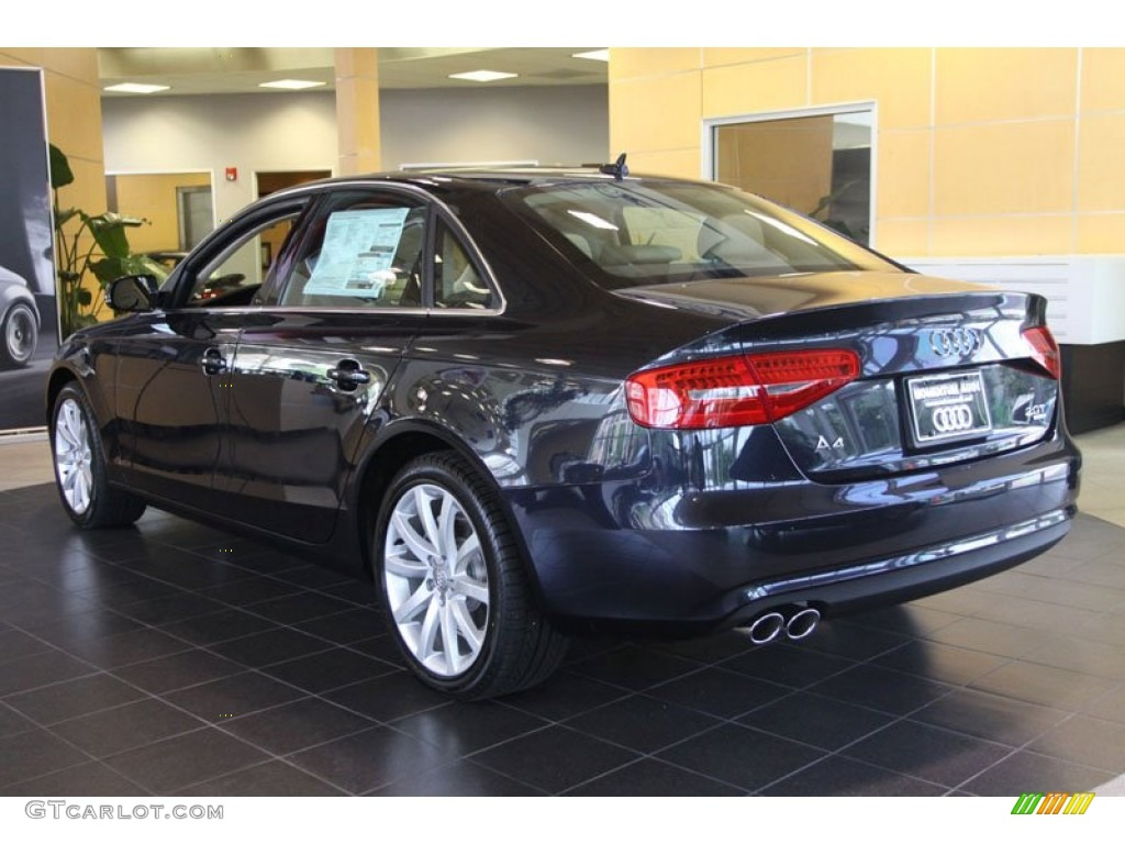2013 a4 2 0t quattro sedan moonlight blue metallic velvet beige moor brown