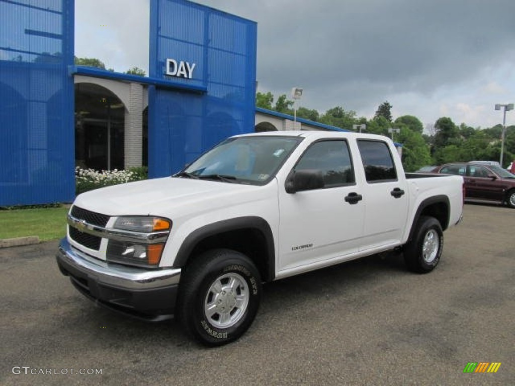 2005 summit white chevrolet colorado ls crew cab 4x4 #66487587