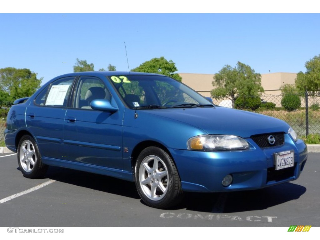 2002 vibrant blue metallic nissan sentra se r 66487483. Black Bedroom Furniture Sets. Home Design Ideas