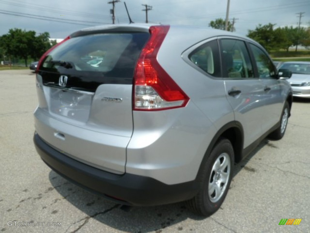 2012 CR-V LX 4WD - Alabaster Silver Metallic / Gray photo #4