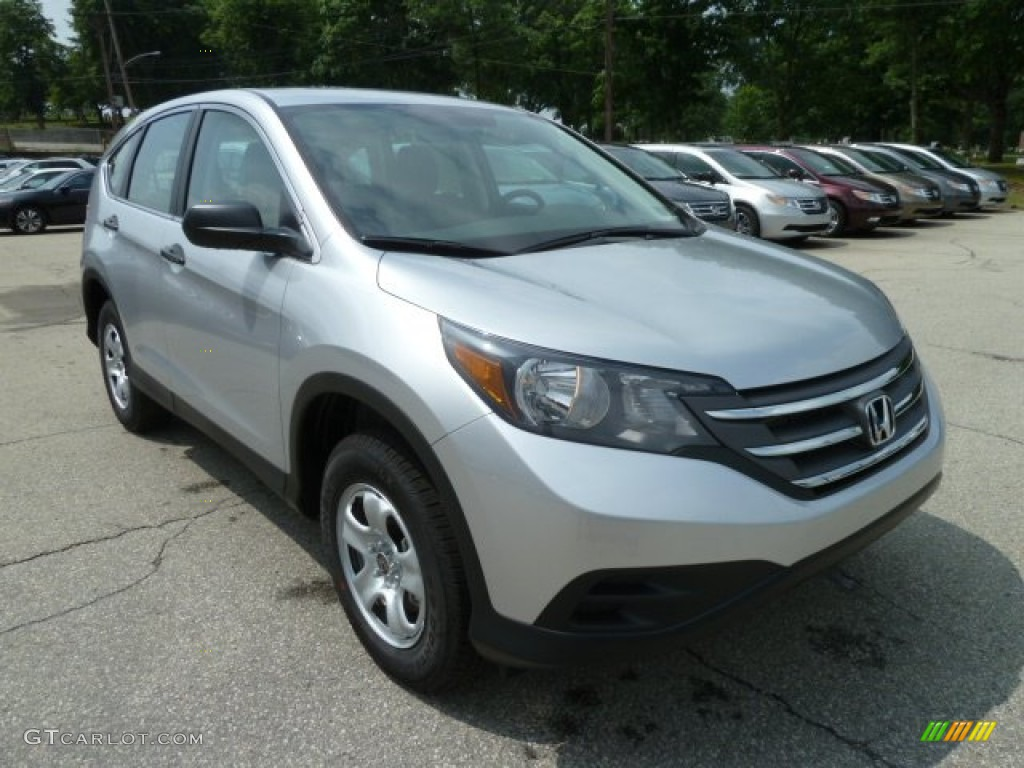 2012 CR-V LX 4WD - Alabaster Silver Metallic / Gray photo #6