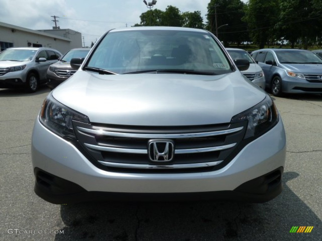 2012 CR-V LX 4WD - Alabaster Silver Metallic / Gray photo #7