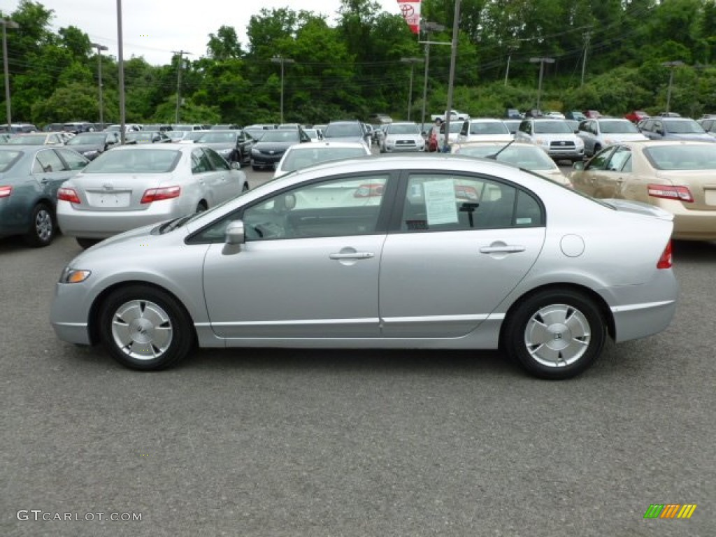 alabaster silver metallic 2006 honda civic hybrid sedan