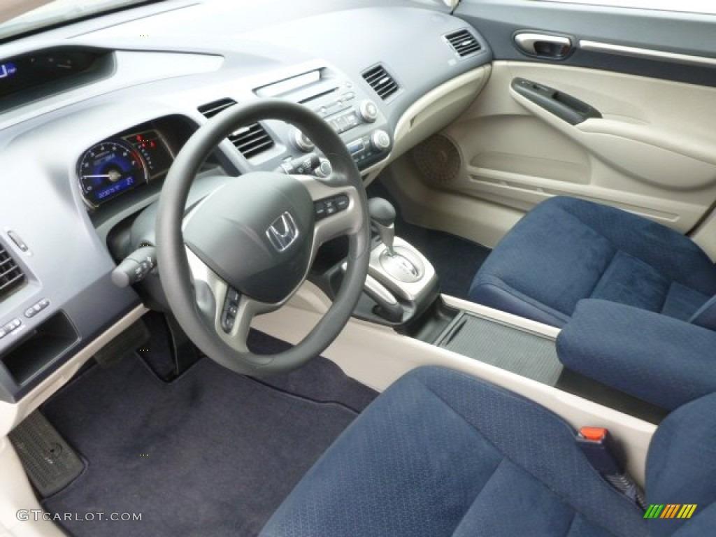 Blue Interior 2006 Honda Civic Hybrid Sedan Photo #66525132