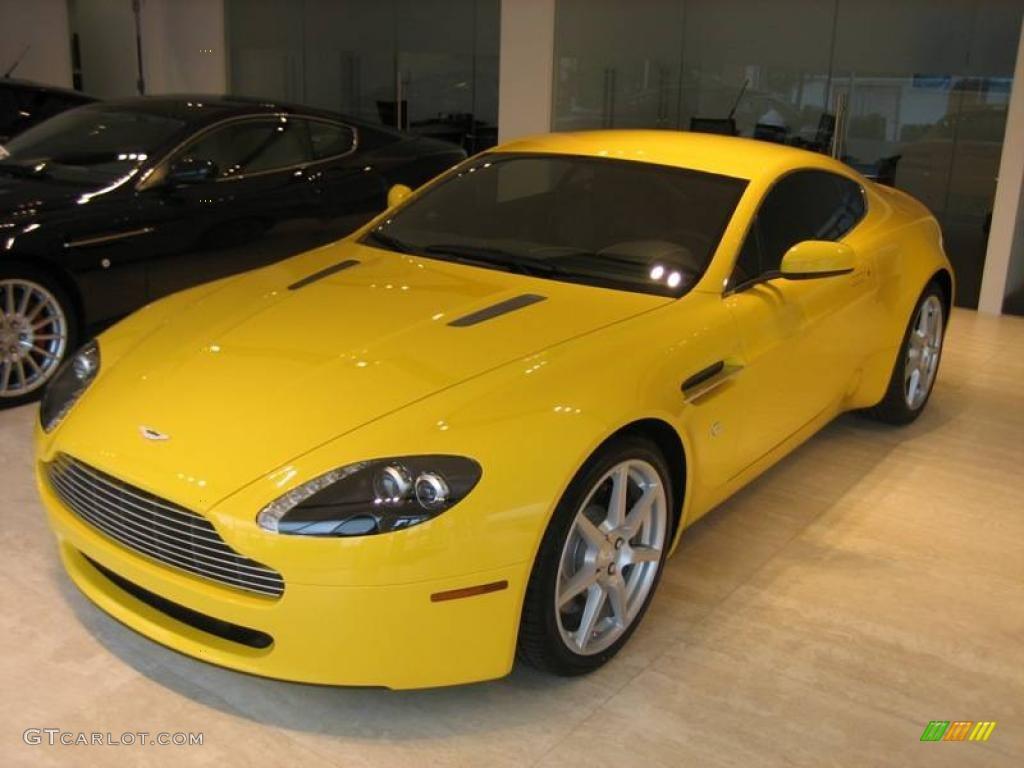 2006 Giallo Modena Ferrari Yellow Aston Martin V8 Vantage Coupe