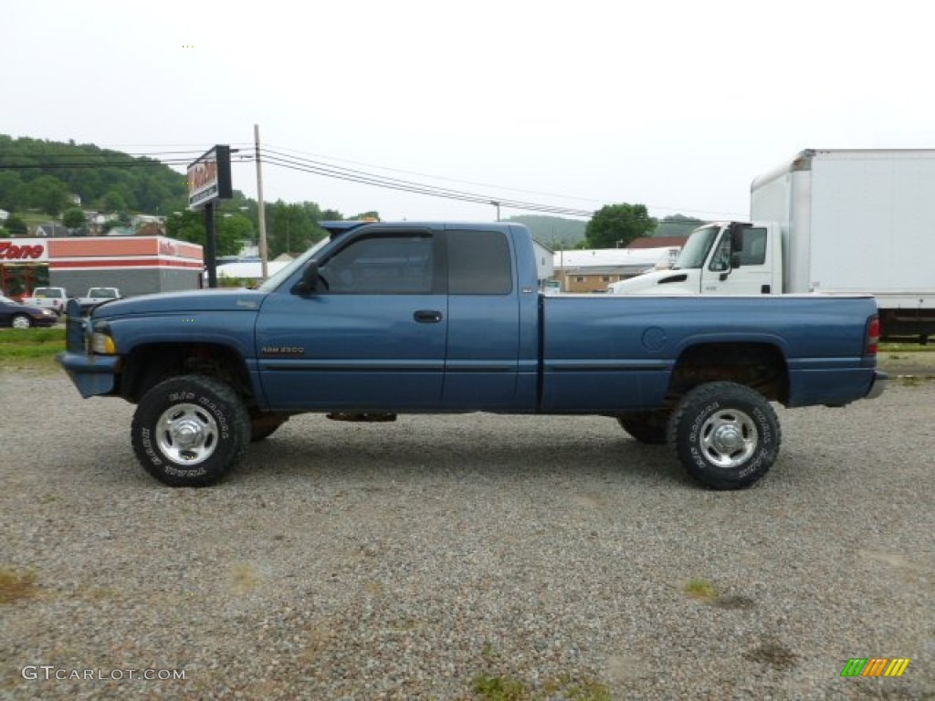 Atlantic blue pearl 2002 dodge ram 2500 slt quad cab 4x4 exterior photo 66533548