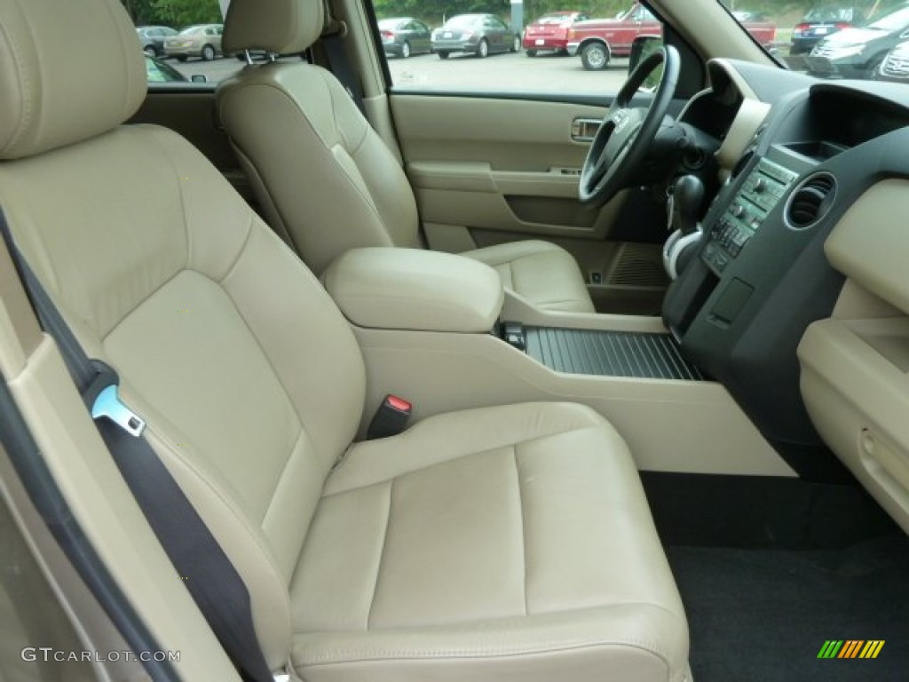 Beige Interior 2009 Honda Pilot Ex L 4wd Photo 66538716