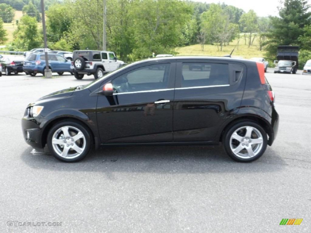 Black 2012 Chevrolet Sonic Ltz Hatch Exterior Photo