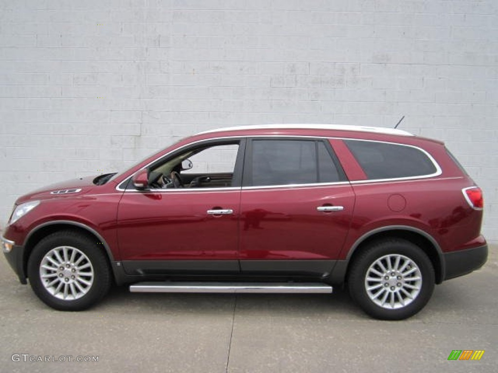 2010 Enclave CX - Red Jewel Tintcoat / Cashmere/Cocoa photo #1