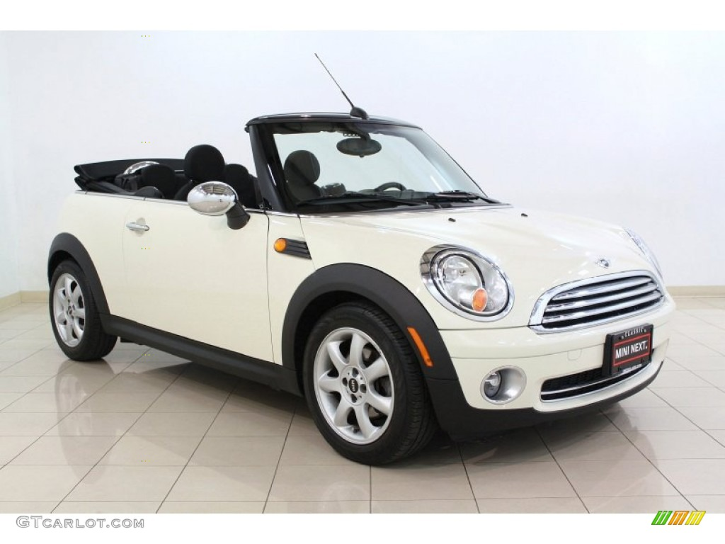 Pepper White 2009 Mini Cooper Convertible Exterior Photo