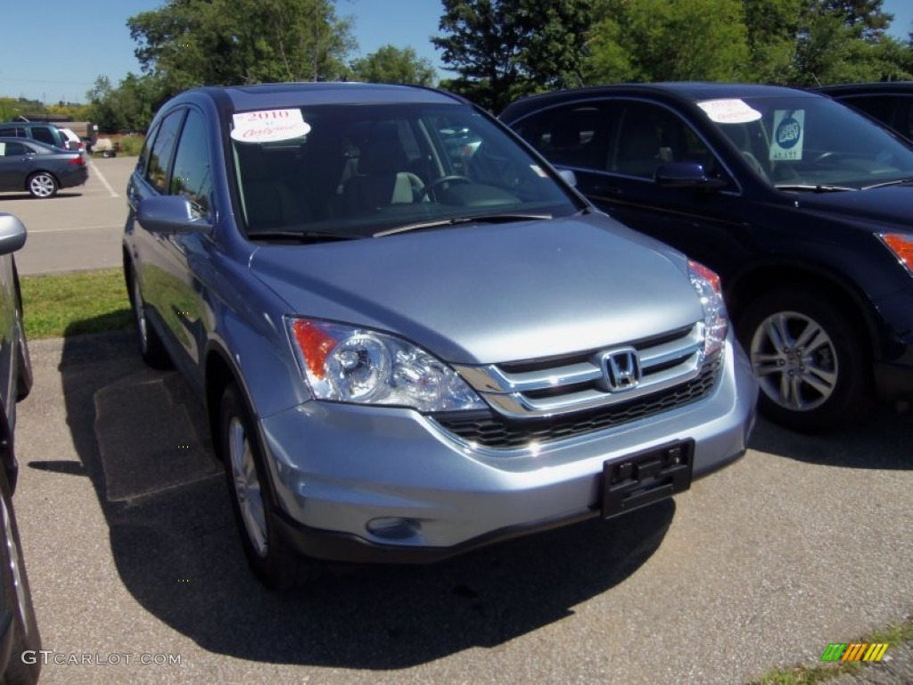 2010 CR-V EX-L - Glacier Blue Metallic / Gray photo #1