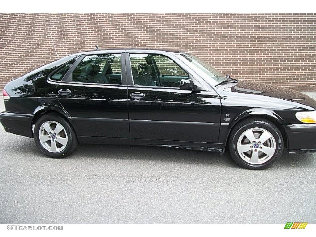 2002 Black Saab 9 3 Se Sedan 66557390 Gtcarlot Com Car