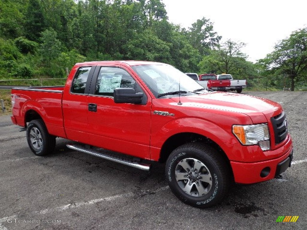 race red 2012 ford f150 stx supercab 4x4 exterior photo 66570030. Black Bedroom Furniture Sets. Home Design Ideas