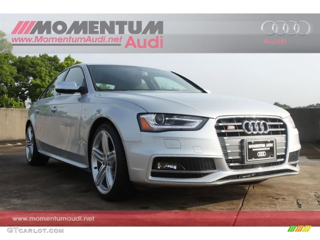 2013 ice silver metallic audi s4 3 0t quattro sedan 66557345 car color galleries. Black Bedroom Furniture Sets. Home Design Ideas