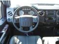 2010 Ford F250 Super Duty Ebony Interior Steering Wheel Photo