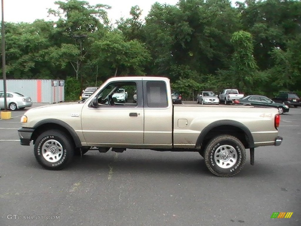 Harvest gold metallic 1999 mazda b series truck b4000 se extended cab 4x4 exterior photo