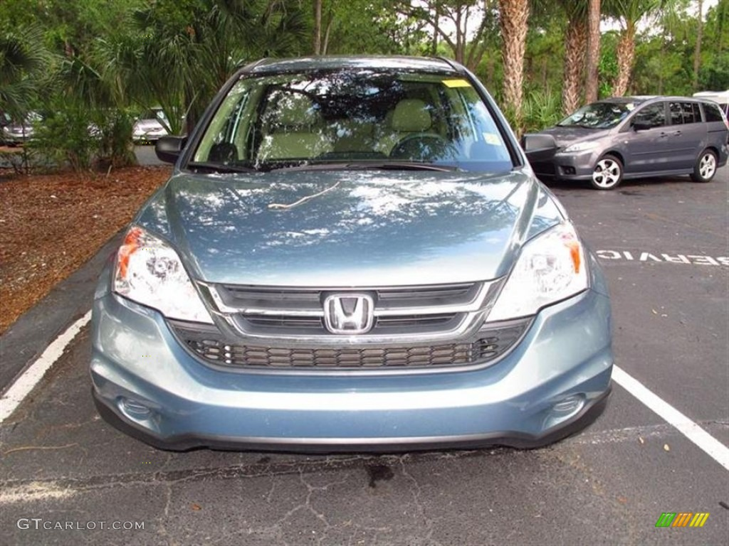 2011 CR-V LX - Glacier Blue Metallic / Ivory photo #1