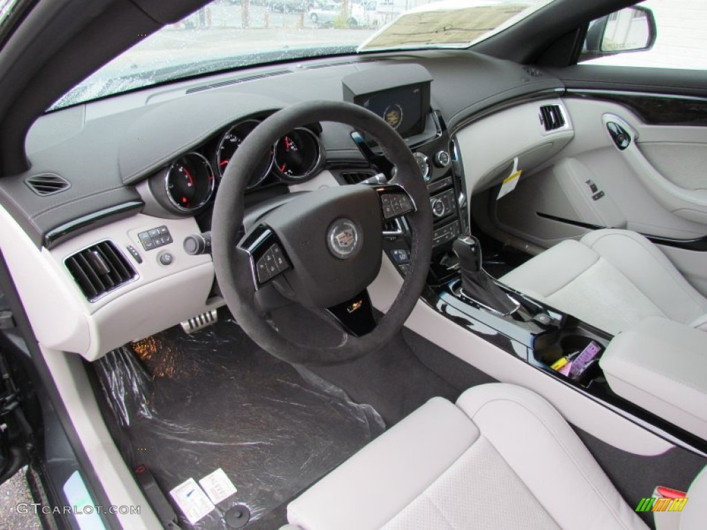 Light Titanium/Ebony Interior 2012 Cadillac CTS  V Coupe Photo #66593284