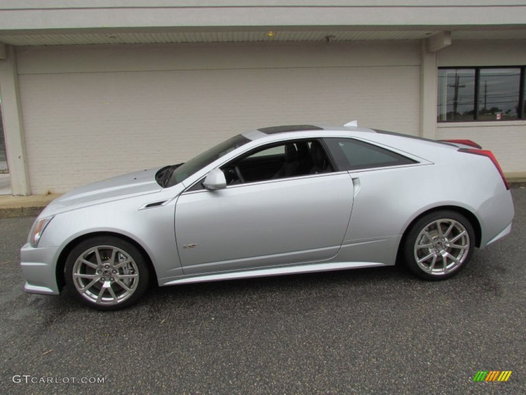 radiant silver metallic 2012 cadillac cts v coupe exterior photo 66593392. Black Bedroom Furniture Sets. Home Design Ideas