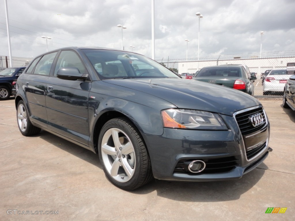 meteor gray pearl effect 2012 audi a3 2 0 tdi exterior. Black Bedroom Furniture Sets. Home Design Ideas