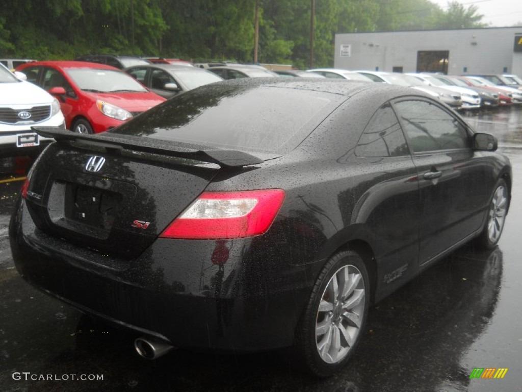 Crystal Black Pearl 2009 Honda Civic Si Coupe Exterior