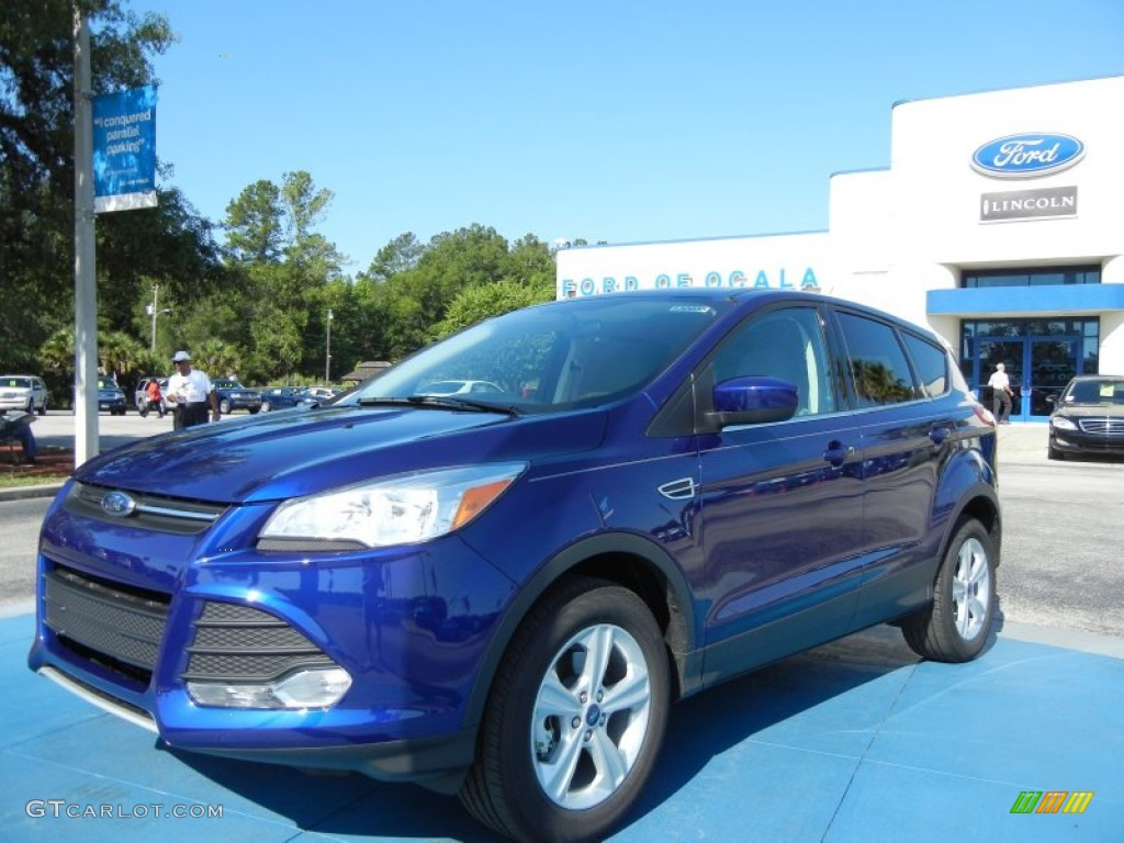 2013 Escape SE 1.6L EcoBoost - Deep Impact Blue Metallic / Medium Light Stone photo #1
