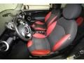 Black/Rooster Red Interior Photo for 2009 Mini Cooper #66629339
