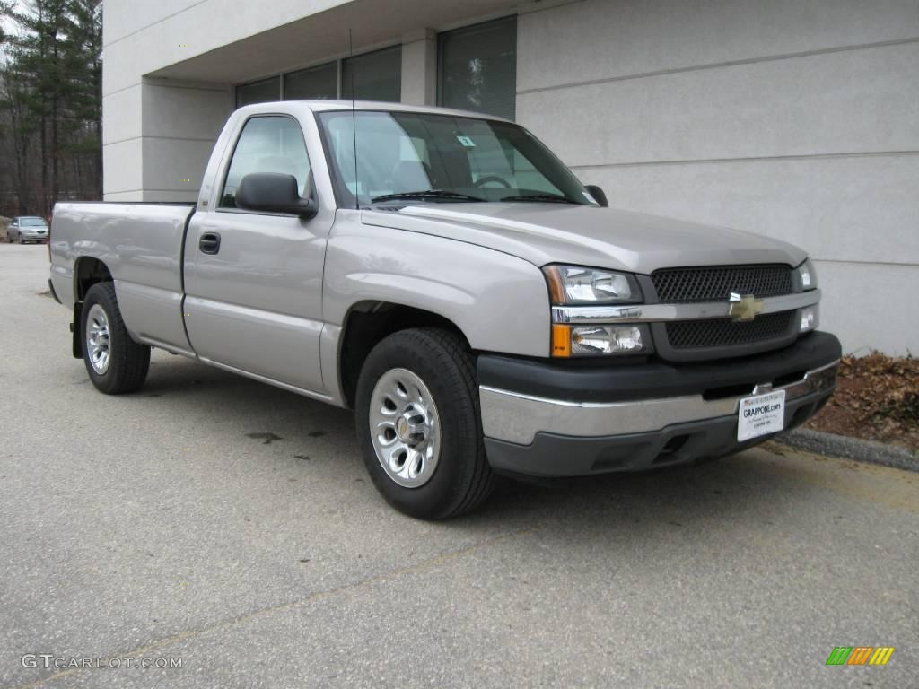 2005 silver birch metallic chevrolet silverado 1500 regular cab 6647038 car. Black Bedroom Furniture Sets. Home Design Ideas