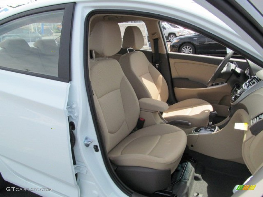 beige interior 2013 hyundai accent gls 4 door photo. Black Bedroom Furniture Sets. Home Design Ideas