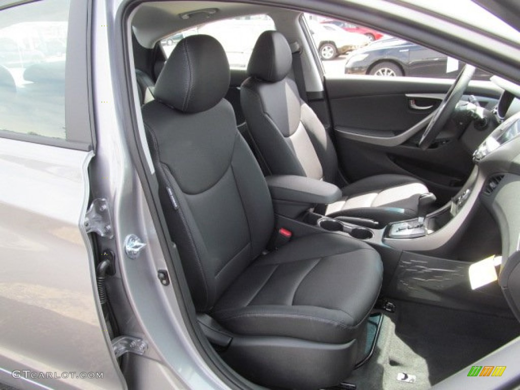 Black Interior 2013 Hyundai Elantra Limited Photo 66659129