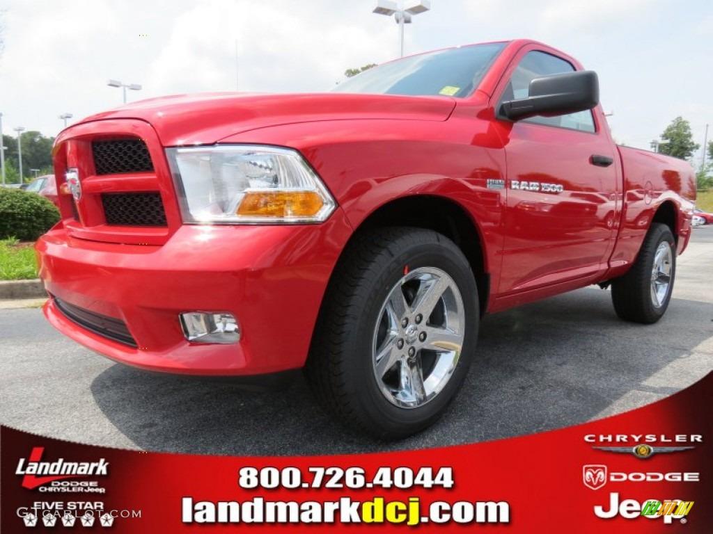 2012 Ram 1500 Express Regular Cab - Flame Red / Dark Slate Gray/Medium Graystone photo #1