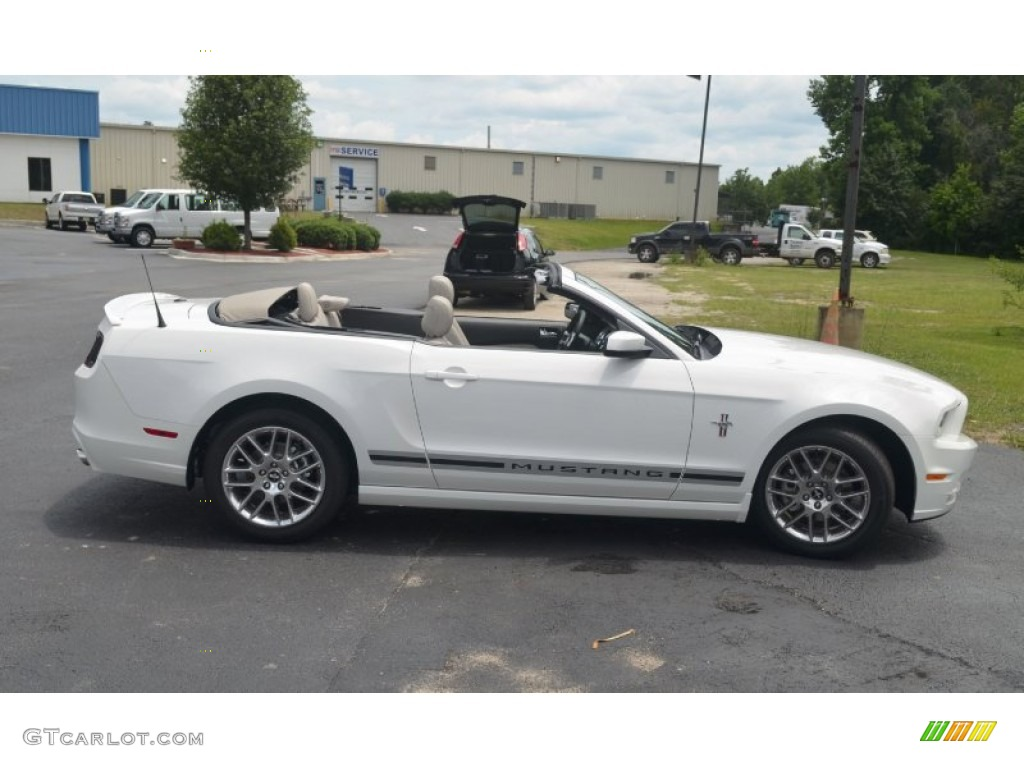 performance white 2013 ford mustang v6 premium convertible exterior photo 66673448 - Ford Mustang 2013 White