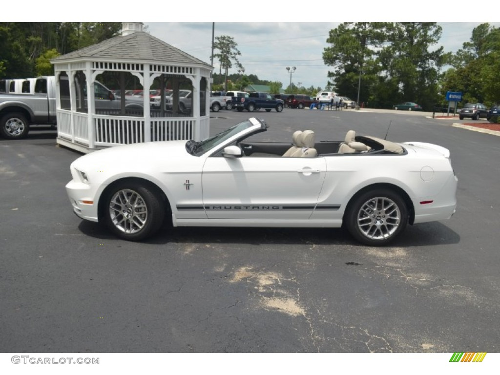 performance white 2013 ford mustang v6 premium convertible exterior photo 66673460 - Ford Mustang 2013 White